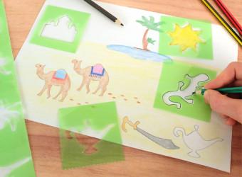 pochoirs enfants graine créative